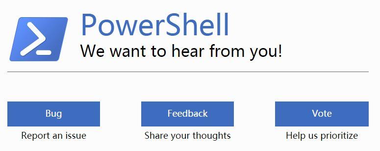 PowerShell反馈网站